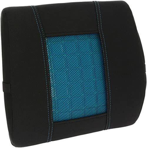 Poduszka lędźwiowa do fotelika samochodowego, wiskoelastyczna, z żelem, do samochodu, biura lub każdego rodzaju siedzenia