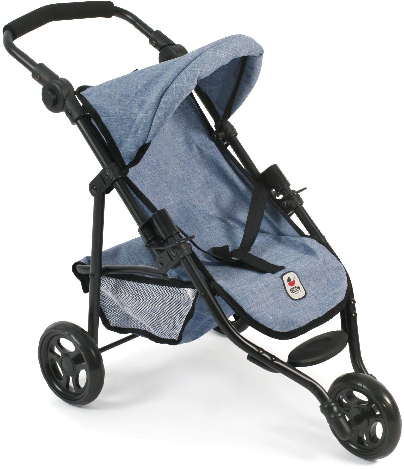 "Bayer Chic 2000 612 50 - Jogging Buggy""Lola"", mały wózek dla lalek do 50 cm, Jeans Blue"