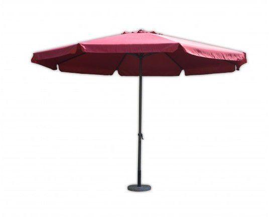 Parasol ogrodowy STANDART bordowy z korbką ø4 m