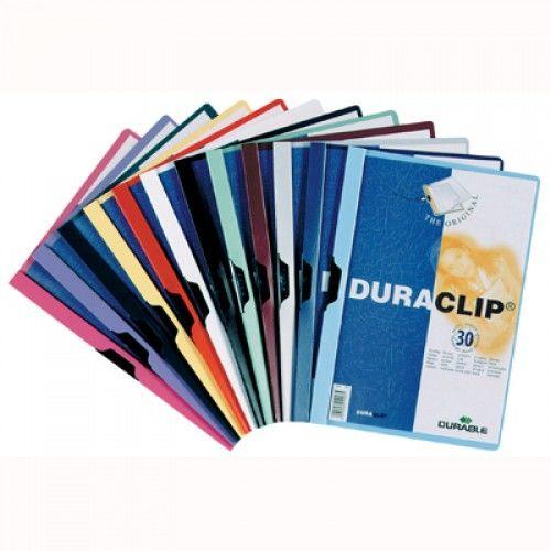 Skoroszyt zaciskowy DURABLE DURACLIP A4 (60 kartek) granatowy 2209-07