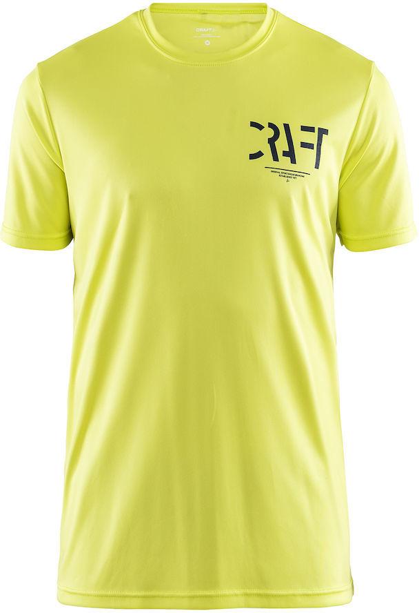 CRAFT EAZE męska koszulka sportowa żółty, 1906034 Rozmiar: M,Craft-EAZE-koszulka-sportowa-żółta