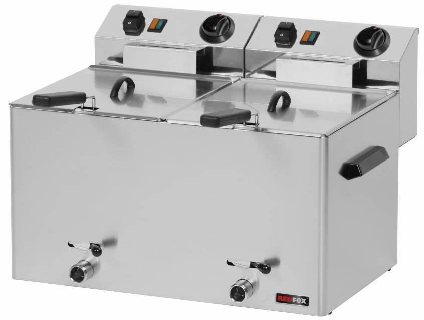 Frytownica elektryczna 2x8L 6000W 540x420x(H)370mm