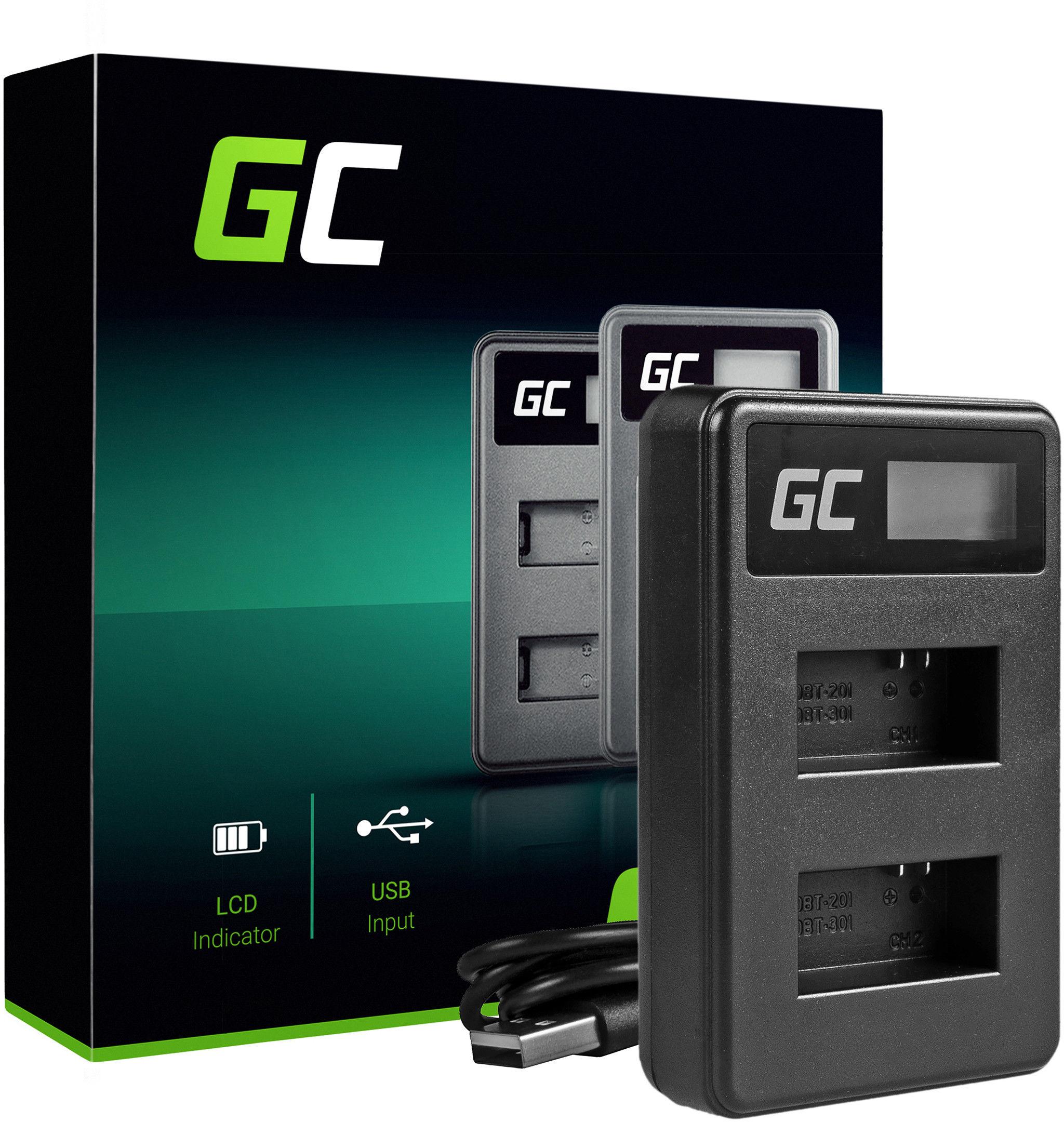 Ładowarka AHDBT-201 AHBBP-301 Green Cell  do GoPro HD HERO 3 CHDHX Black Silver White Edition (4.2V 2.5W 0.6A)