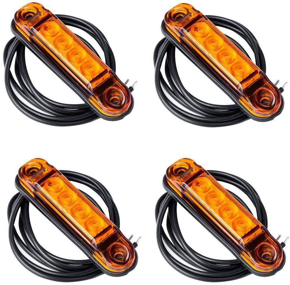 Zestaw 4x lamp obrysowych LED Horpol SLIM pomarańczowych
