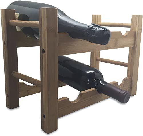 Vin Bouquet FIC 118  regał na wino bambus, brązowy