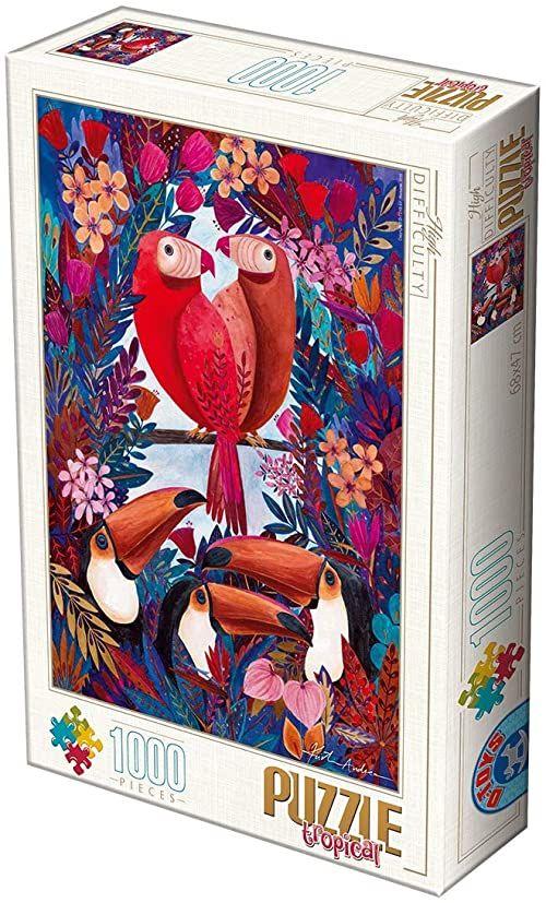 D-TOYS 1 - Puzzle 1000 Andrea Kurti Tropical Exotic birds