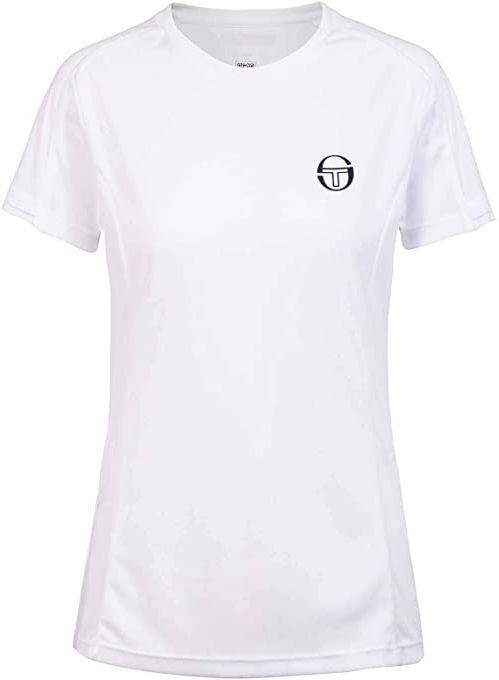 Sergio Tacchini Damski Pliage T-shirt damski biały White/Navy L