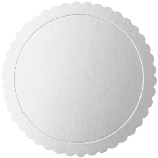 Podkład pod tort 20cm okrągły srebrny 1 sztuka 511441