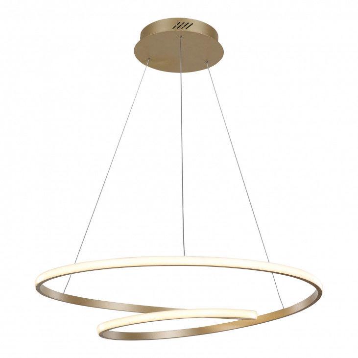 Lampa wisząca Capita MD17011011-2A GOLD Italux złota nowoczesna lampa wisząca LED