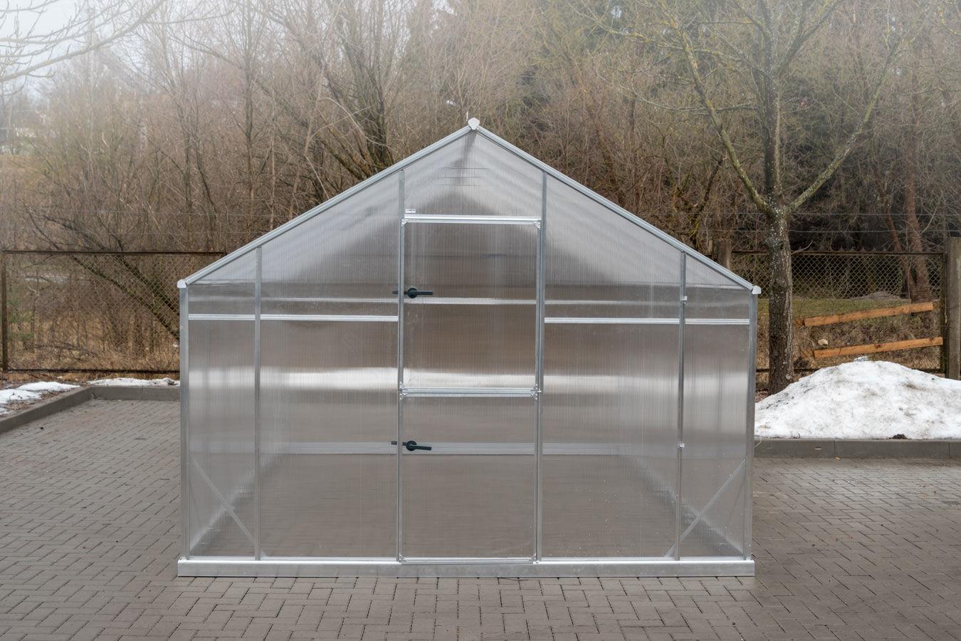 Szklarnia Sanus XL-24 wymiar 2,9x8,5m H=2,25m 24,6m2 poliwęglan 6mm