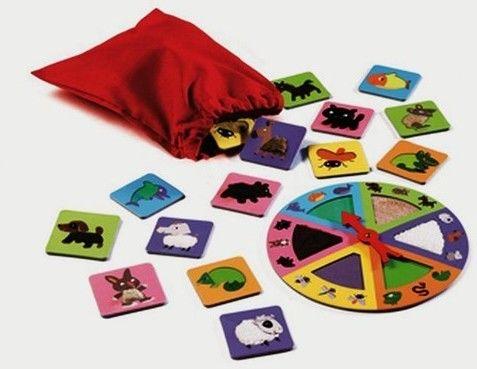 Djeco - gra Edukacyjna Lotto Ruletka Zwierzaki Dj08129