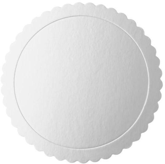 Podkład pod tort 25cm okrągły srebrny 1 sztuka 511445