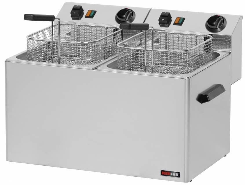 Frytownica elektryczna trójfazowa 2x8L 12000W 540x420x(H)300mm