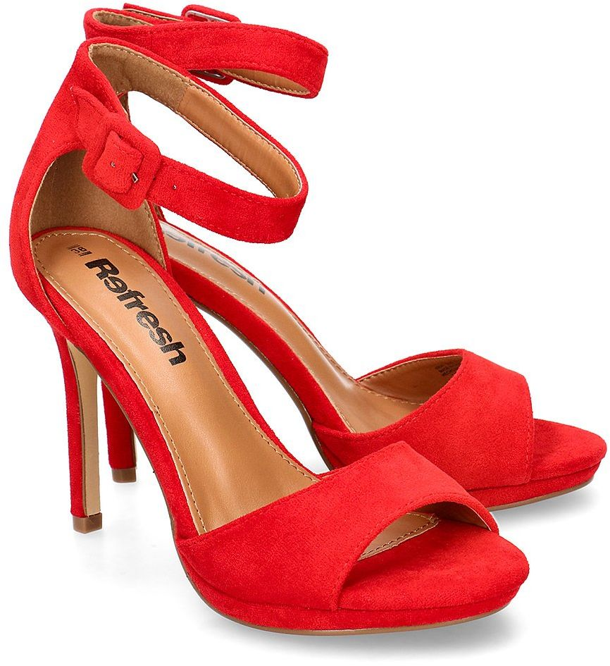 Refresh - Sandały Damskie - 69541 RED - Czerwony