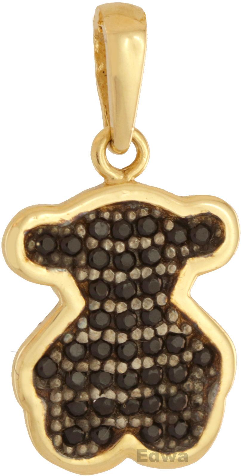 Zawieszka złota Misiu z kamieniami, pr.585
