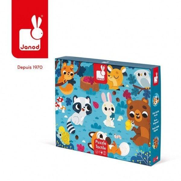 Janod - Puzzle Sensoryczne 20 Elementów Leśne Zwierzęta, Janod