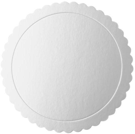 Podkład pod tort 30cm okrągły srebrny 1 sztuka 511449