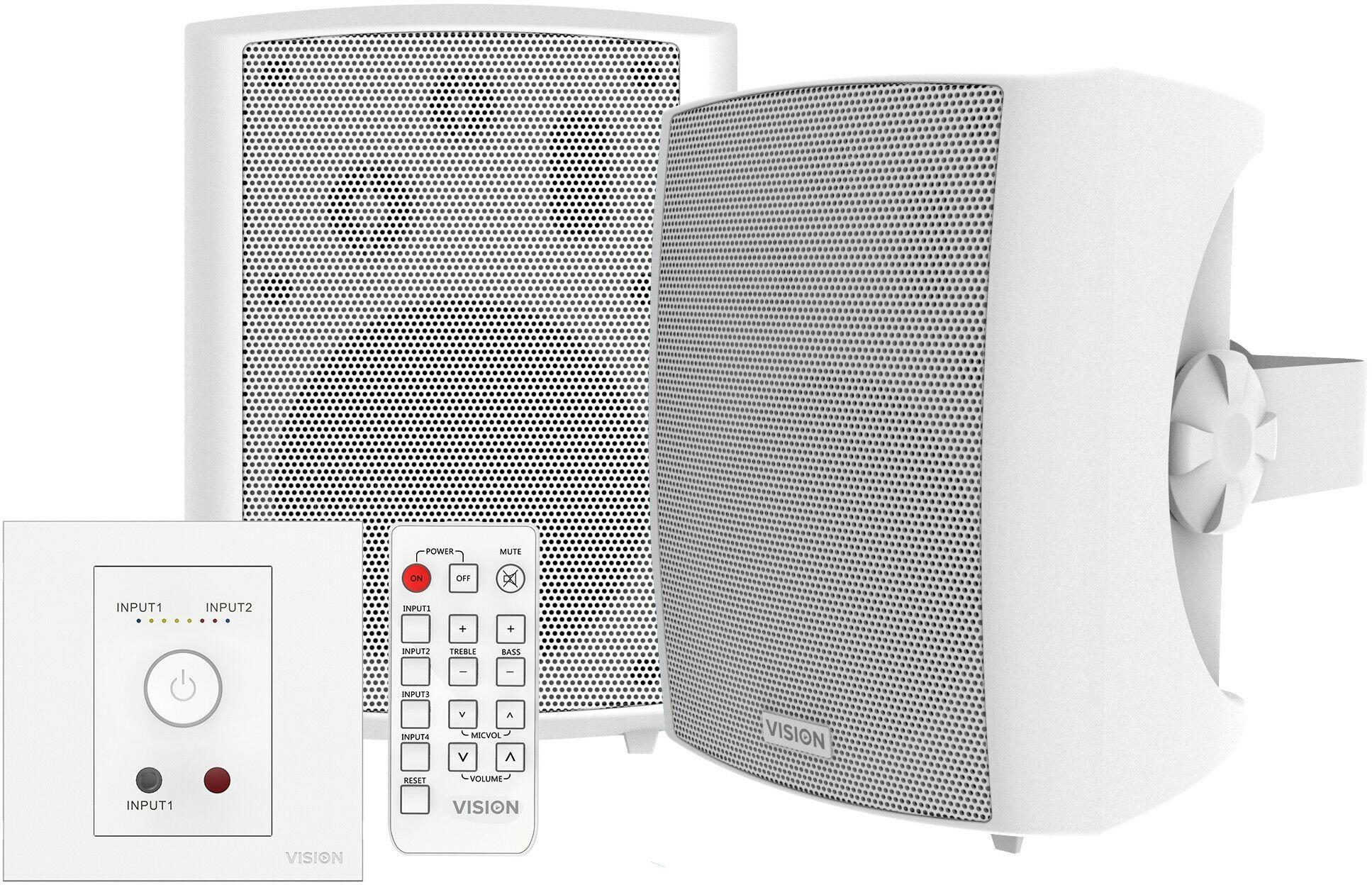 Vision TC3-AMP+SP-1800 zestaw wzmacniacz 50W + głośniki ścienne (Para)