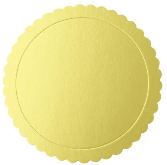 Podkład pod tort 25cm okrągły złoty 1 sztuka 511444
