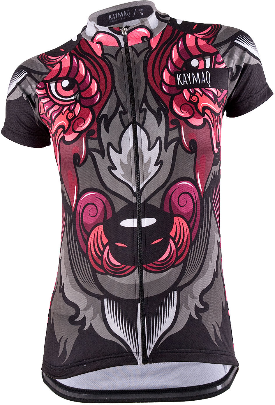 KAYMAQ WOLF damska koszulka rowerowa Rozmiar: M,KY-Wolf-short