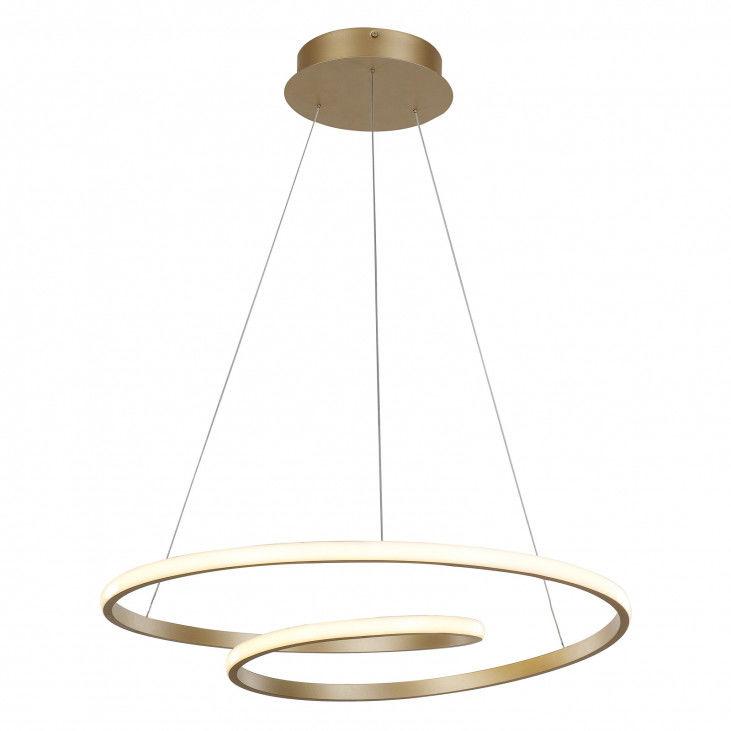 Lampa wisząca Capita MD17011011-1A GOLD Italux złota nowoczesna lampa wisząca LED