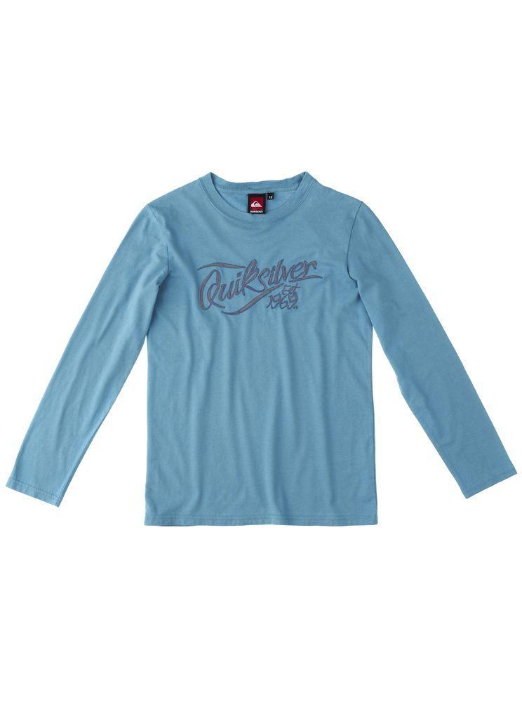 bluzka z długim rękawem dziecięcia QUIKSILVER SPRINGS YOUTH BLUE