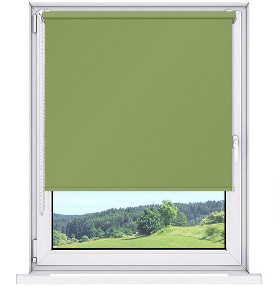Roleta 100% zaciemnienia BLACKOUT Bezinwazyjna - Green / Biały