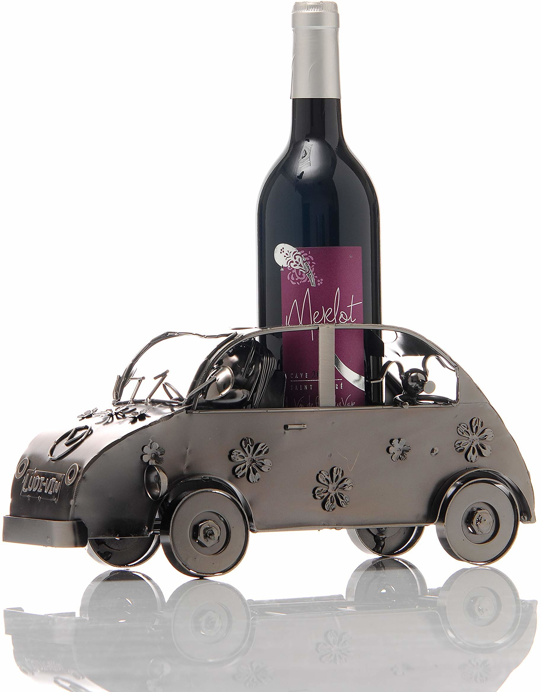 ludi-vin 5060388470494 metalowy uchwyt na butelki 30 x 11,2 x 14,6 cm