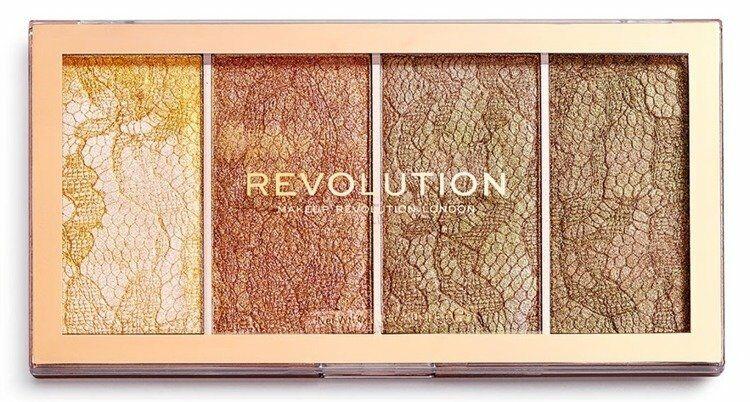 Makeup Revolution Vintage Lace Palette Highlighter Paleta rozświetlaczy