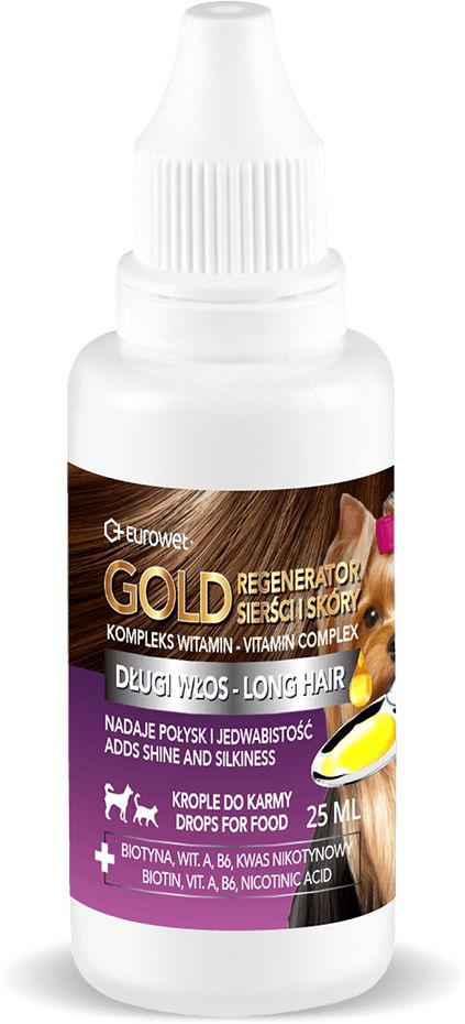 Gold Regenerator Sierści i Skóry Krople dla Psa i Kota 25 ml