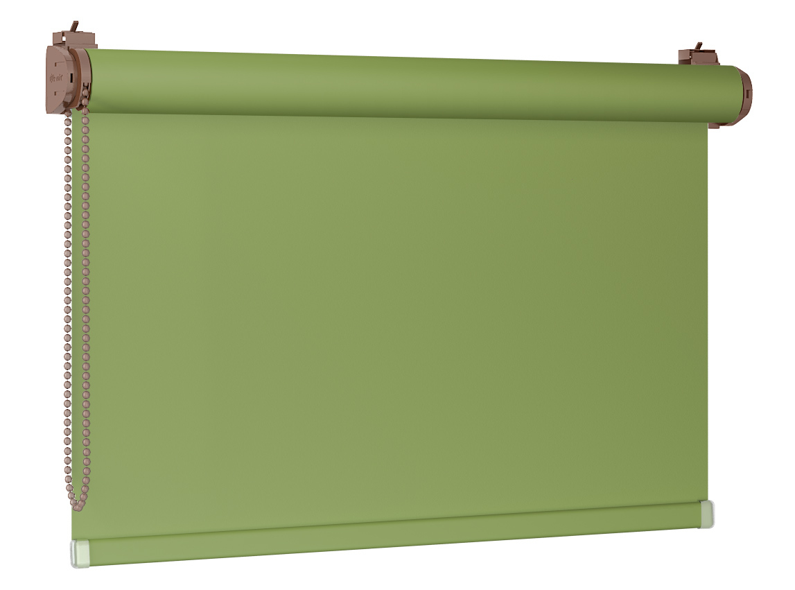 Roleta 100% zaciemnienia BLACKOUT Bezinwazyjna - Green / Dębowy