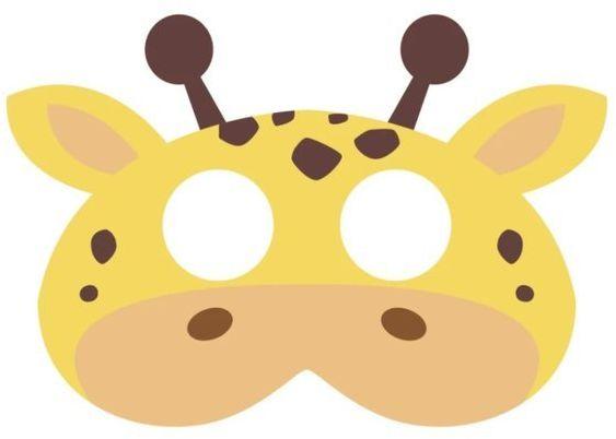 Maska filcowa Żyrafa 1 sztuka 910006