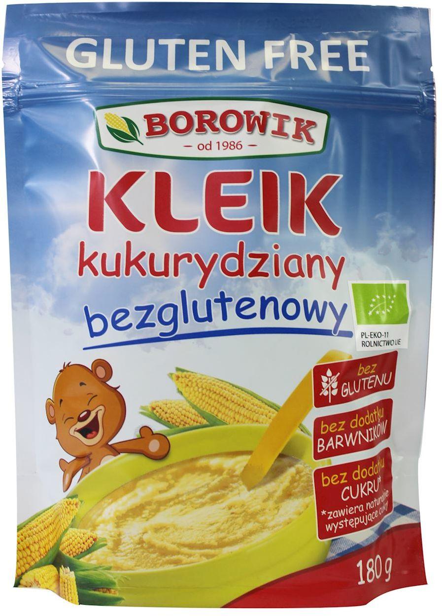 Kleik kukurydziany bezglutenowy bio 180 g - borowik
