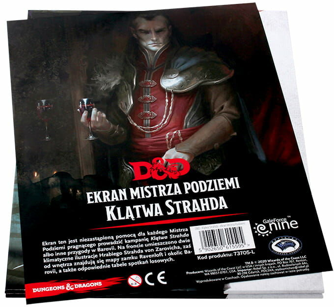 D&D: Klątwa Strahda - Ekran Mistrza Podziemi