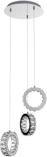 Lampa wisząca Platt PL180407-3 Zuma Line nowoczesna oprawa w kolorze srebrnym
