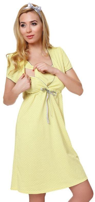 Ciążowa koszula nocna bawełniana Felicita żółtaXXL