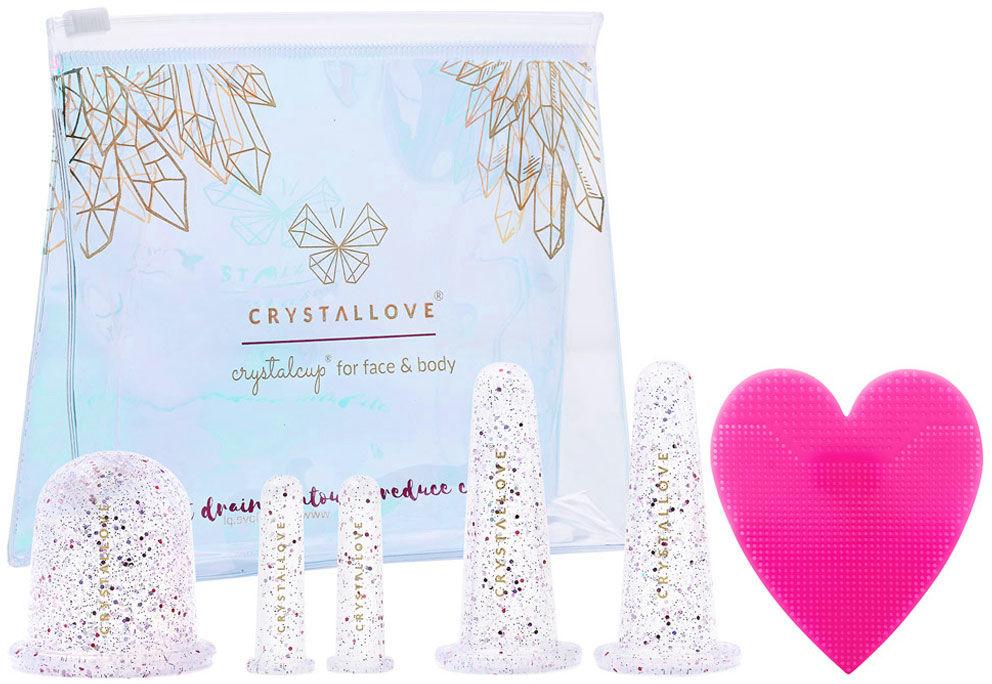 CRYSTALLOVE Crystalcups Face And Body Bańki silikonowe do masażu twarzy i ciała. 2 KOLORY - Crystal