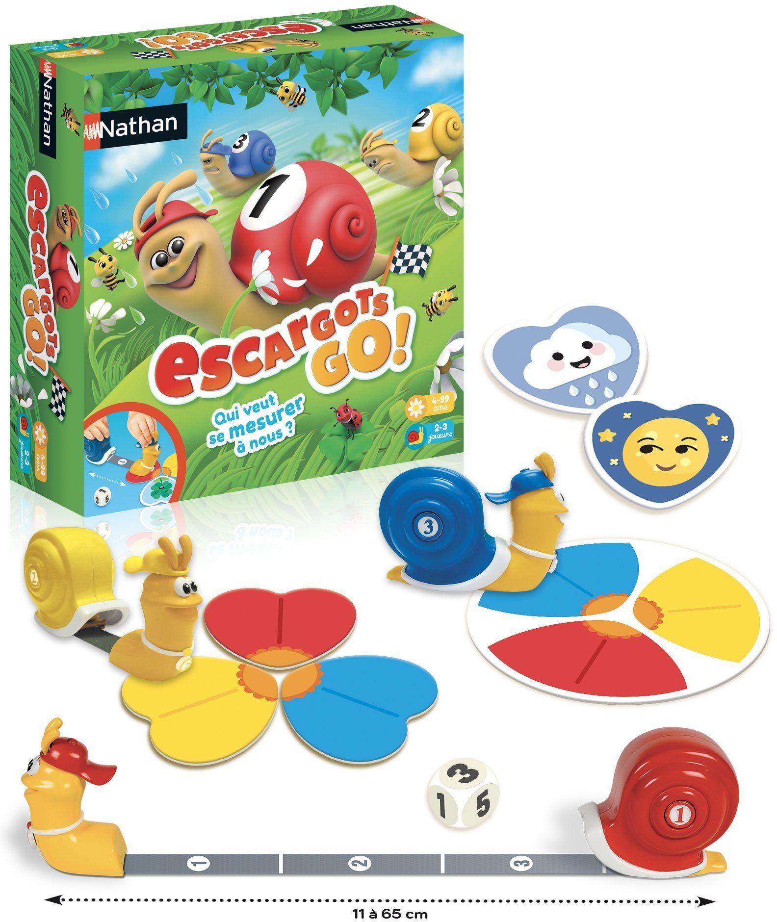 Nathan  Les ślimaki Go!  gra towarzyska dla dzieci od 4 lat z 2 trybami gry