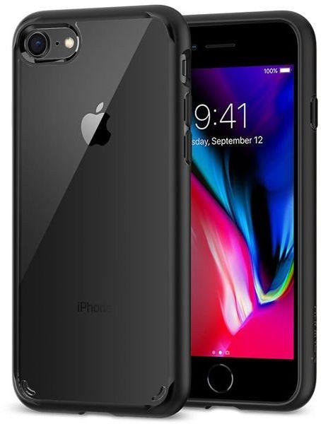 Etui Spigen Ultra Hybrid 2 Apple iPhone 7/8/SE 2020 Black + Szkło Alogy