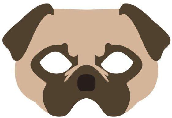 Maska filcowa Pies 1 sztuka 910028