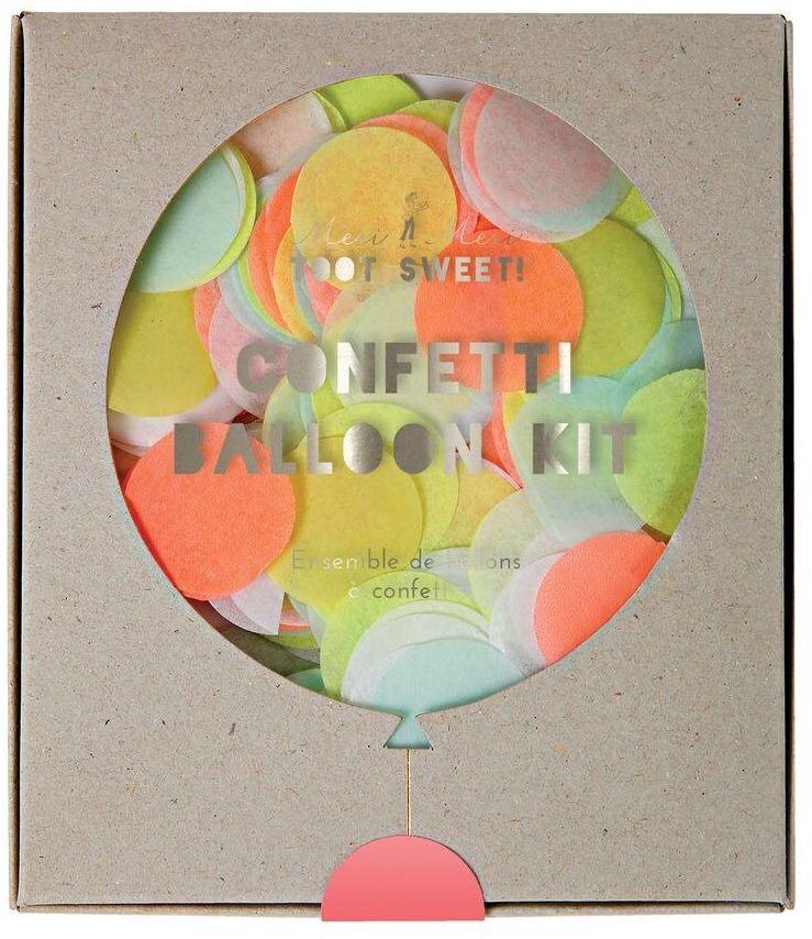 Meri Meri  Zestaw balonów Konfetti neonowe