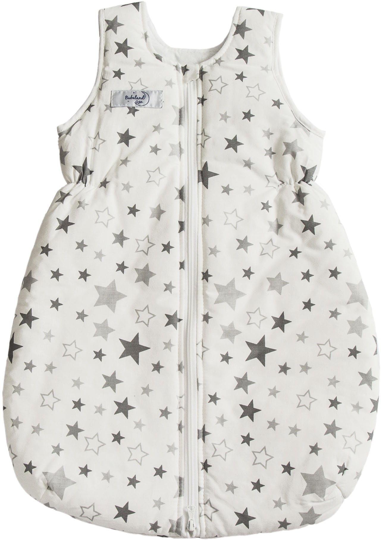 Śpiworek zimowy 2,5 tog niemowlęcy do spania ocieplany Gwiezdny Pył  szary