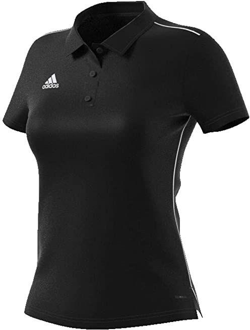 adidas Damska koszulka polo Core18 czarny czarny/biały XS