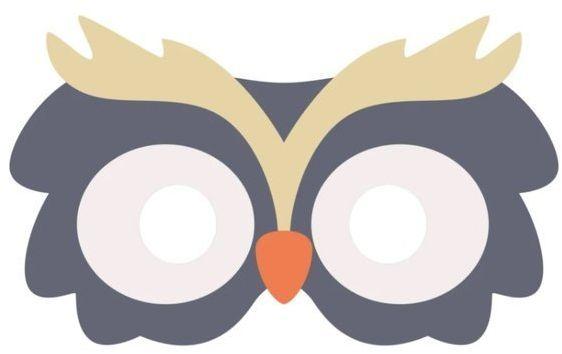 Maska filcowa Sowa 1 sztuka 910023