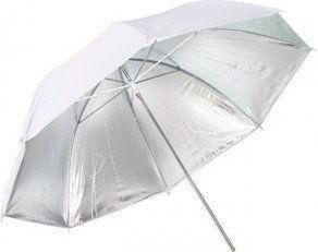 Parasolka odbijająca srebrno-biała 110cm