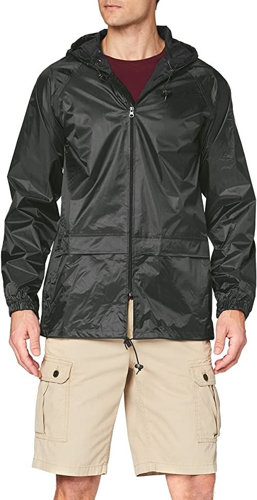 Regatta Męska kurtka dżinsowa Trw408 27560 jednokolorowa z kapturem z długim rękawem, zielona (ciemnooliwkowa), średnia