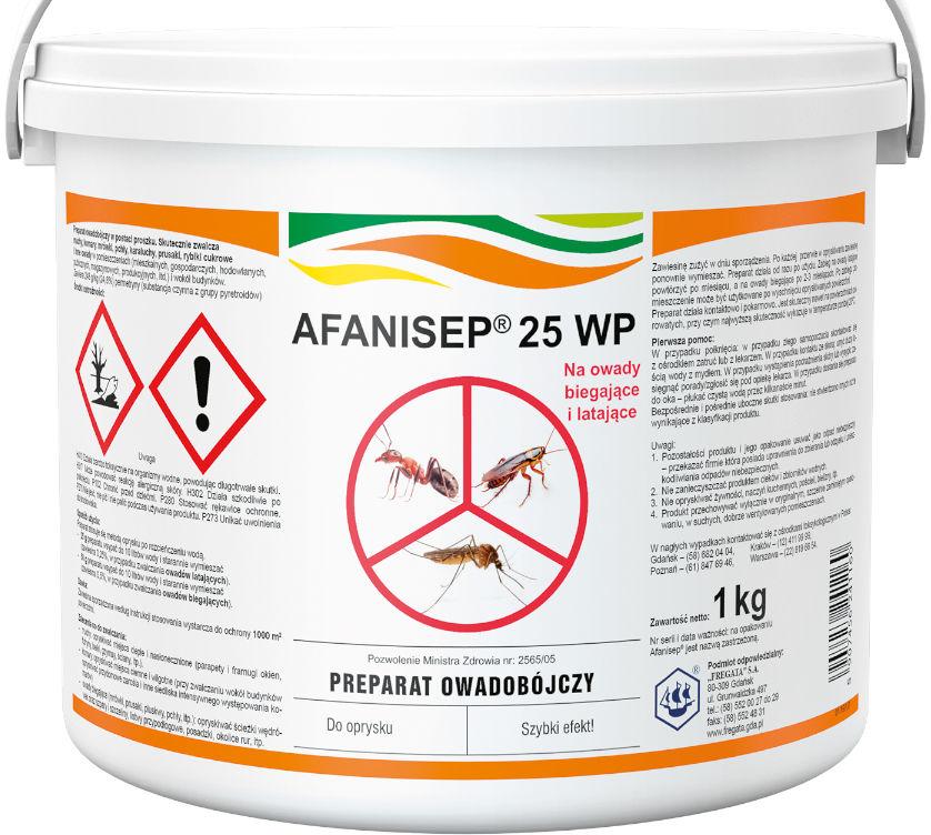 Afanisep 25WP 1kg. Środek owadobójczy, permetryna.