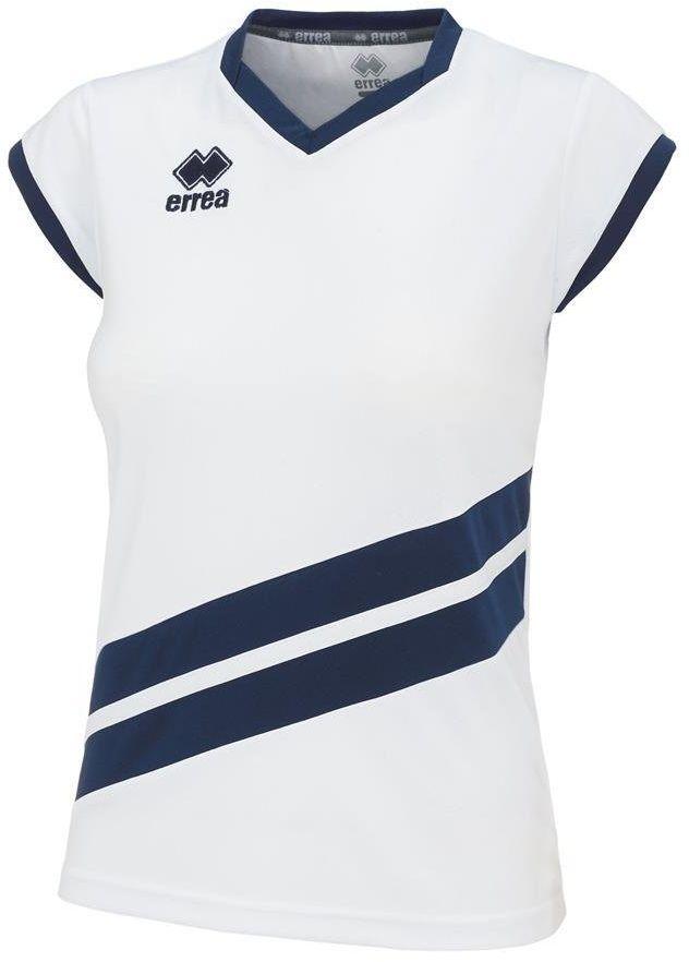 Errea Jens MC Jr koszulka sportowa unisex dzieci XS biały niebieski