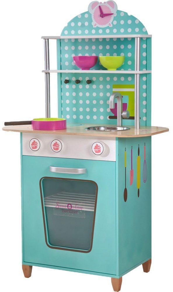 Beluga Spielwaren 68000 - dziecięce zabawki do zabawy z ról, Sweet und Easy, Enie backt, kuchnia drewniana (bardzo kolorowa)
