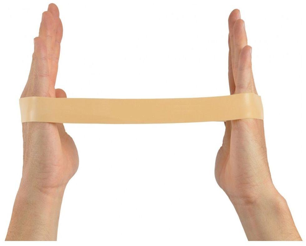 Taśma Loop - Guma do ćwiczeń w kształcie pętli - opór bardzo słaby (beżowa)